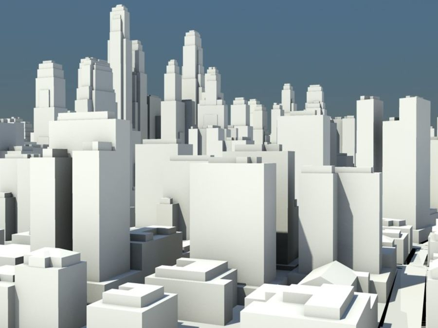 Ciudad royalty-free modelo 3d - Preview no. 9