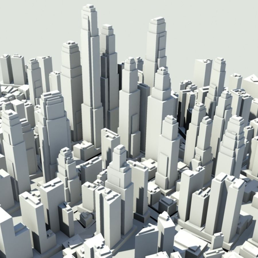 City royalty-free 3d model - Preview no. 4