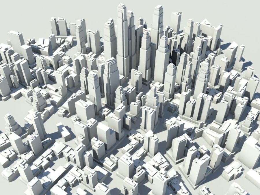 Ciudad royalty-free modelo 3d - Preview no. 5