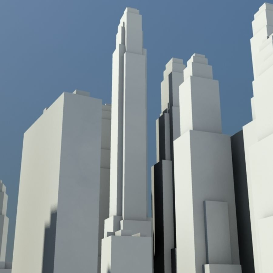 City royalty-free 3d model - Preview no. 8