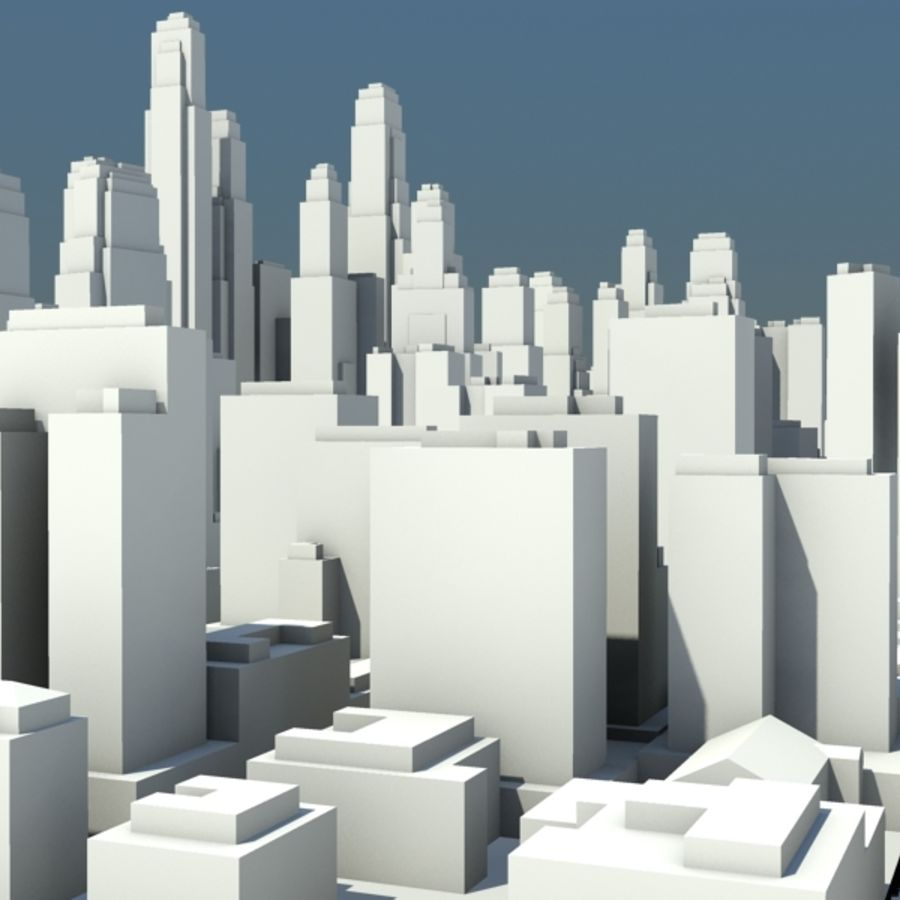 City royalty-free 3d model - Preview no. 9