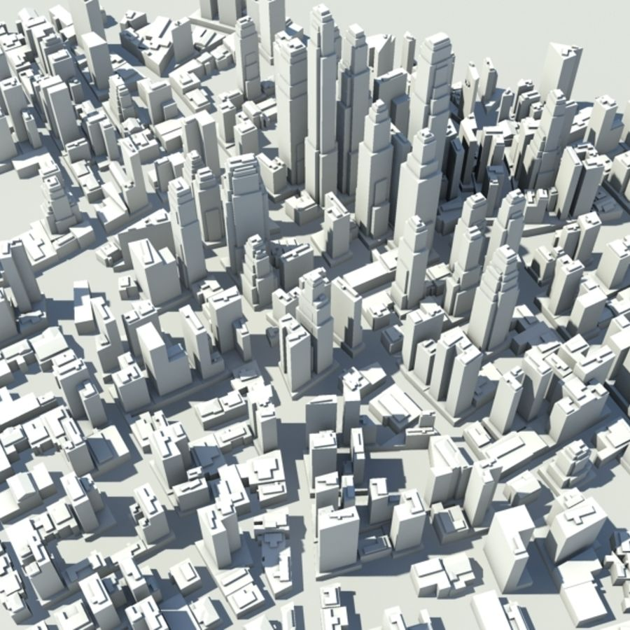 City royalty-free 3d model - Preview no. 7
