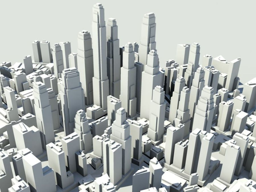 Ciudad royalty-free modelo 3d - Preview no. 4