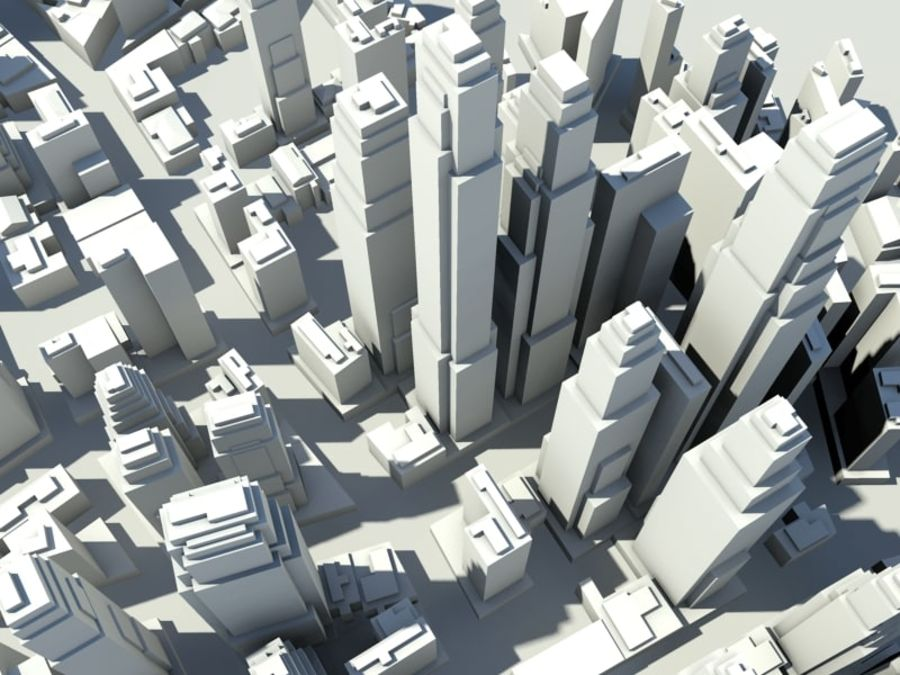 Ciudad royalty-free modelo 3d - Preview no. 2