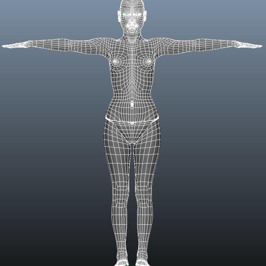 Kvinnlig modell royalty-free 3d model - Preview no. 10