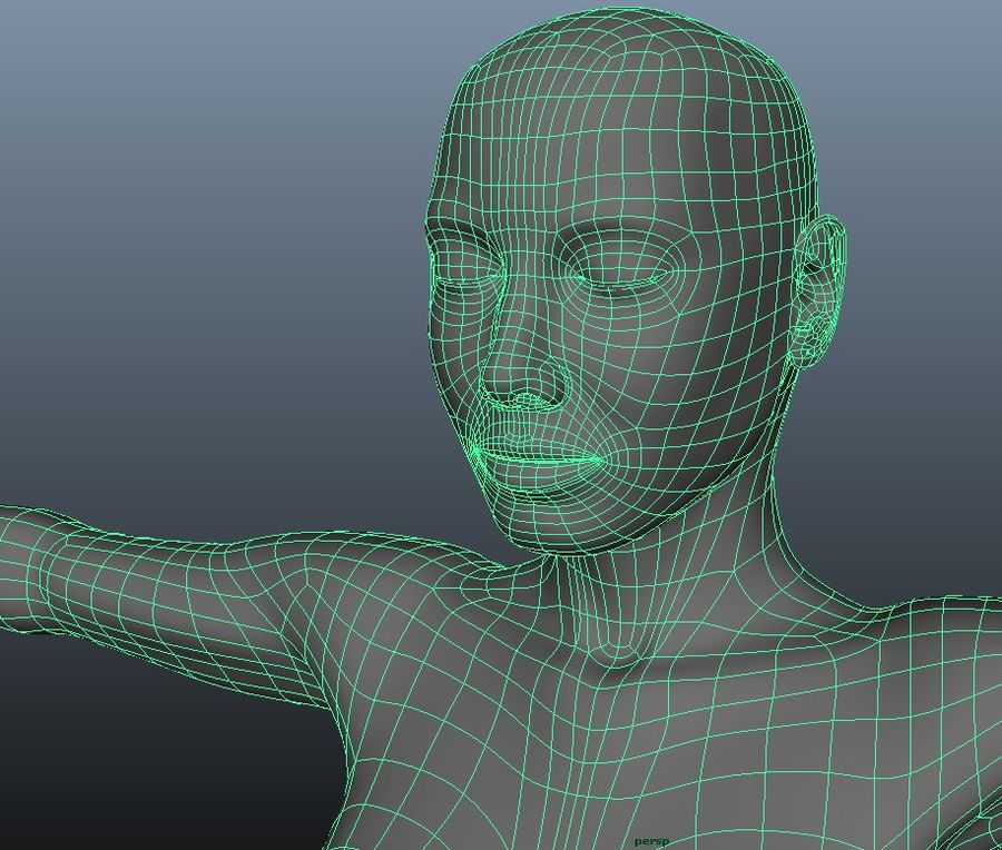 Female model royalty-free 3d model - Preview no. 9