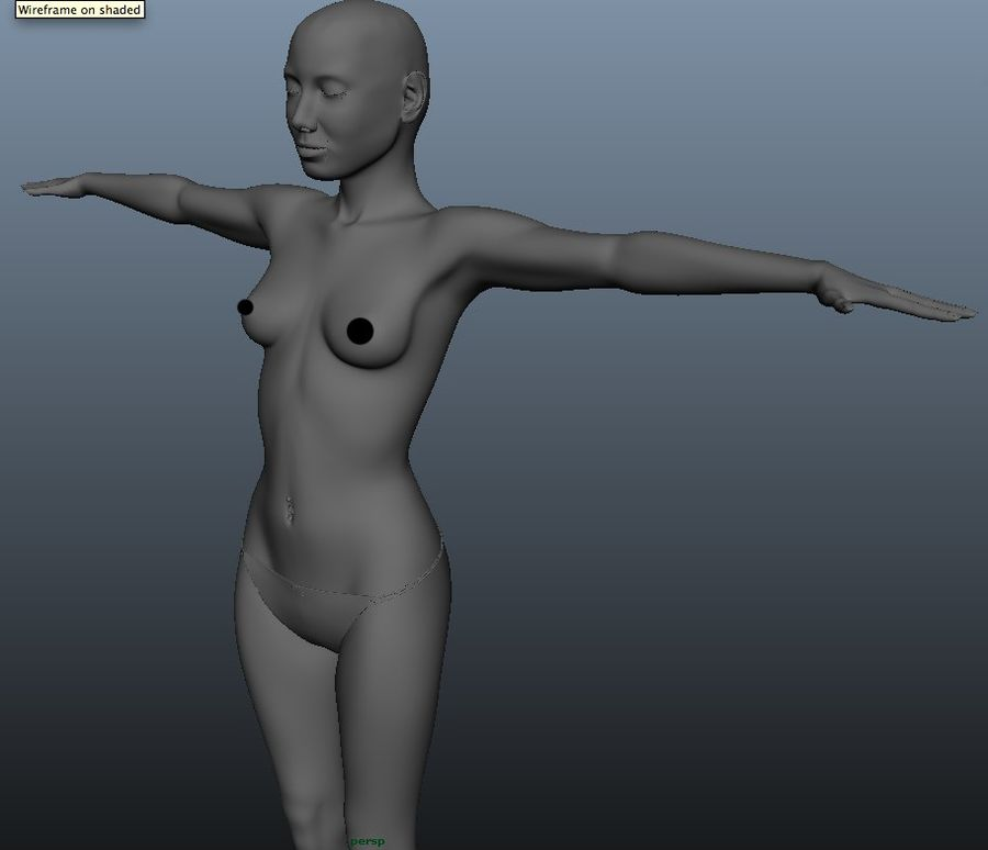 Female model royalty-free 3d model - Preview no. 1