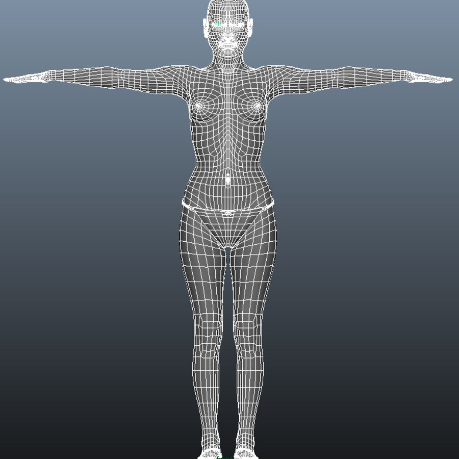 Female model royalty-free 3d model - Preview no. 10