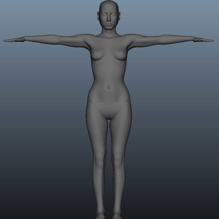 Female model royalty-free 3d model - Preview no. 2