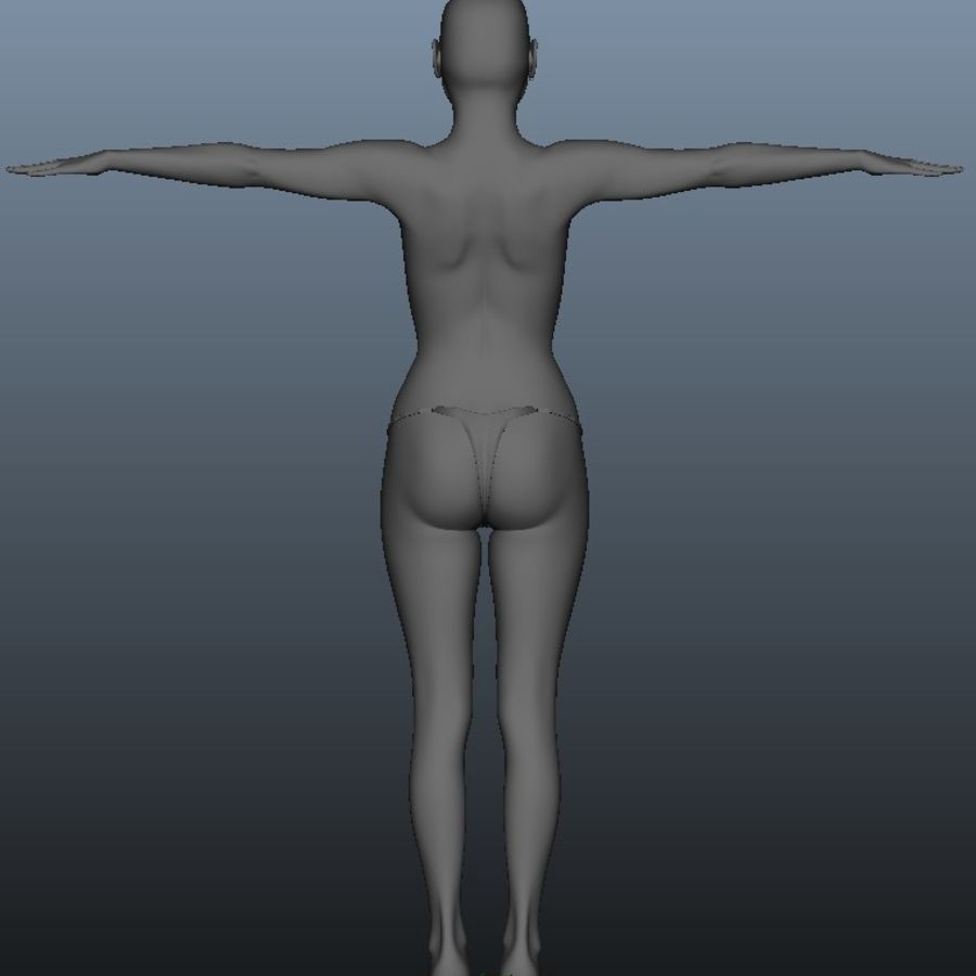 Female model royalty-free 3d model - Preview no. 4