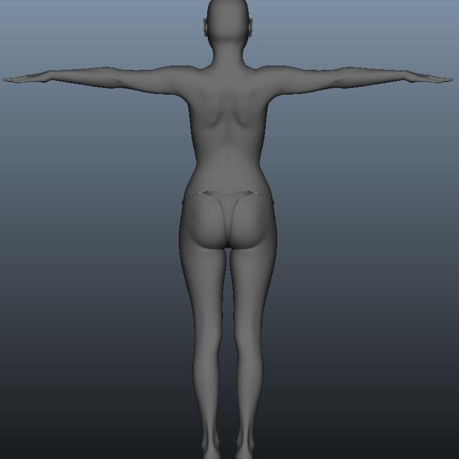 Kvinnlig modell royalty-free 3d model - Preview no. 4