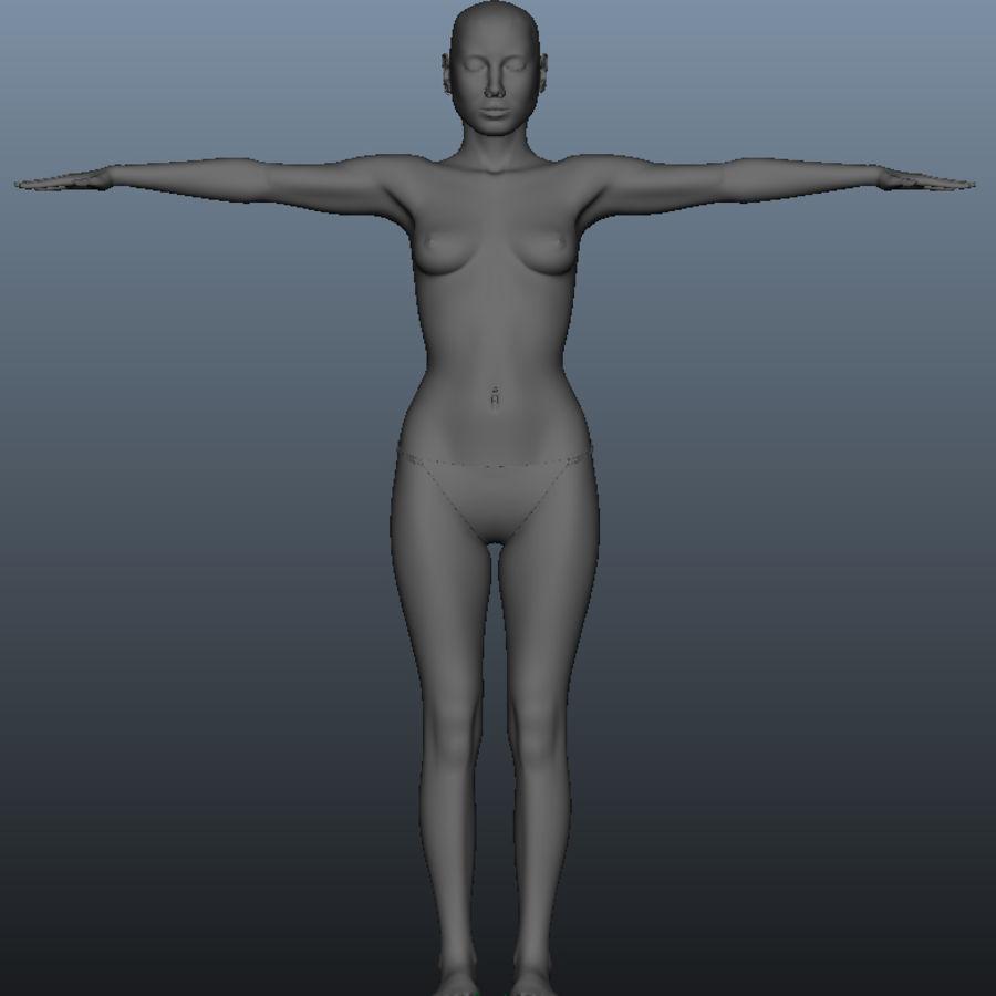 Kvinnlig modell royalty-free 3d model - Preview no. 1