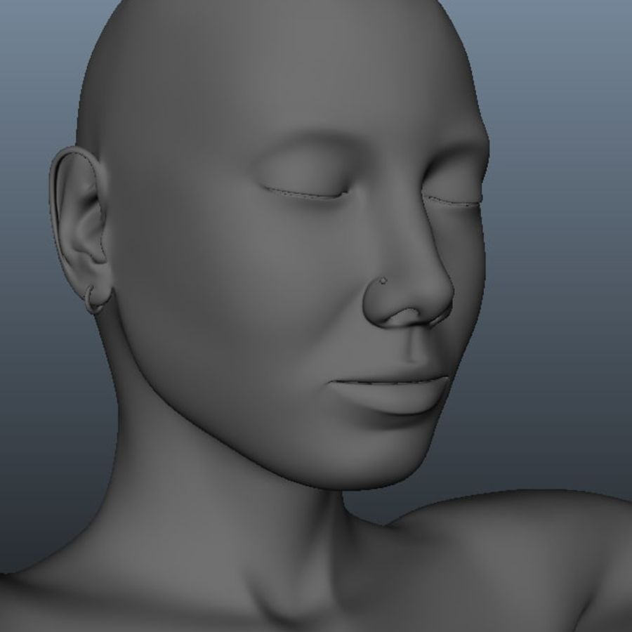 Female model royalty-free 3d model - Preview no. 3