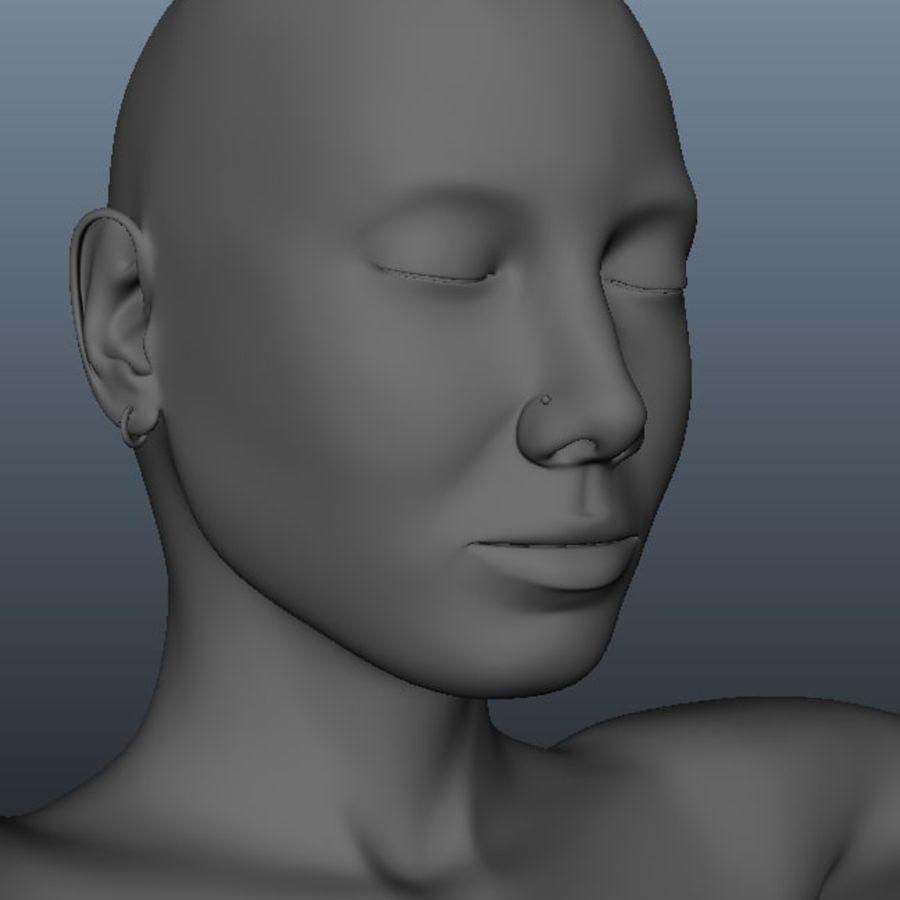 Kvinnlig modell royalty-free 3d model - Preview no. 3