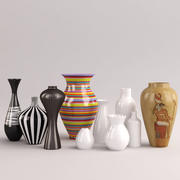 Collection of vases and flowerpots 2 3d model