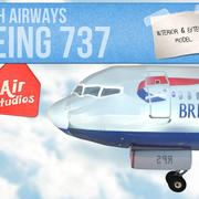 Boeing 737-British Airways 3d model