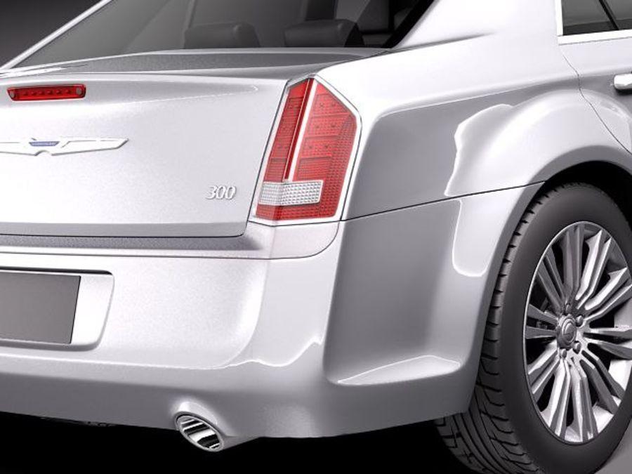 克莱斯勒300c 2012 royalty-free 3d model - Preview no. 4