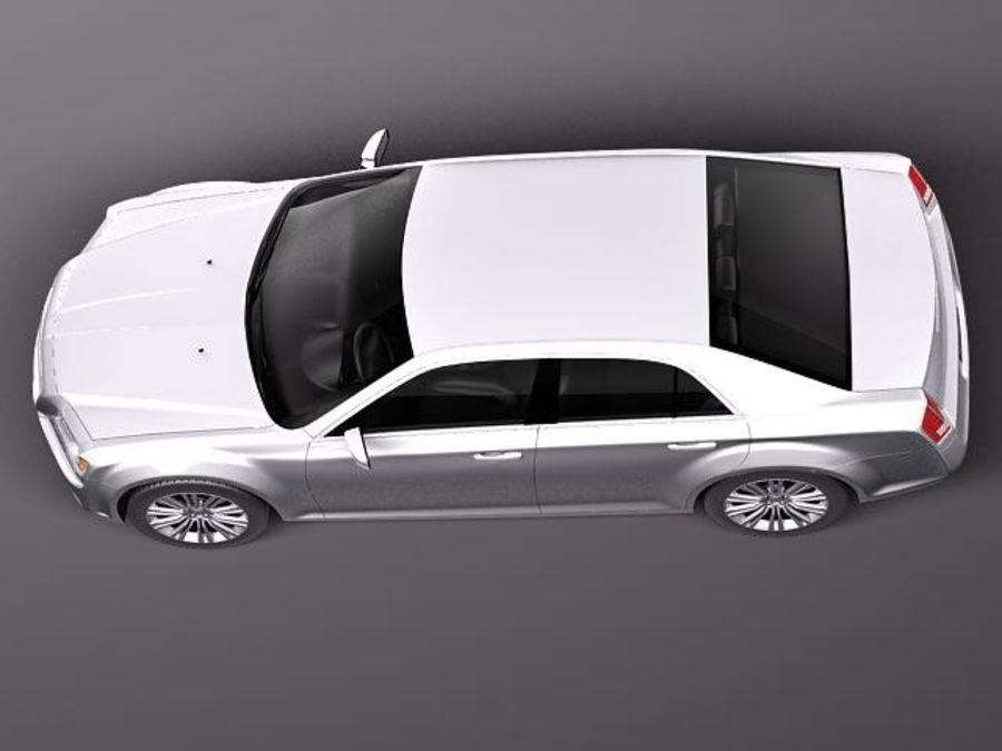 克莱斯勒300c 2012 royalty-free 3d model - Preview no. 8