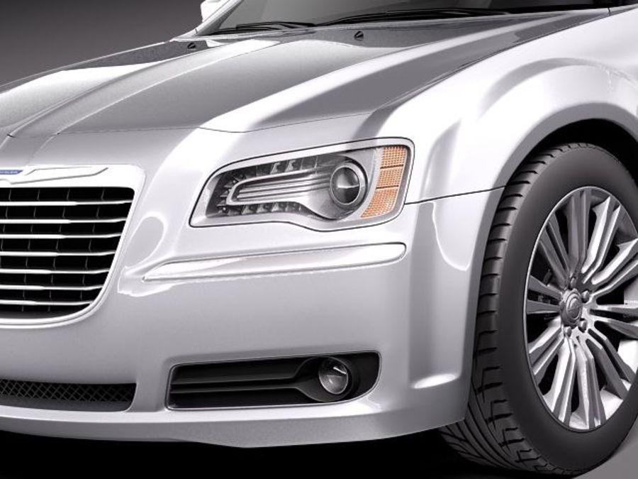 克莱斯勒300c 2012 royalty-free 3d model - Preview no. 3