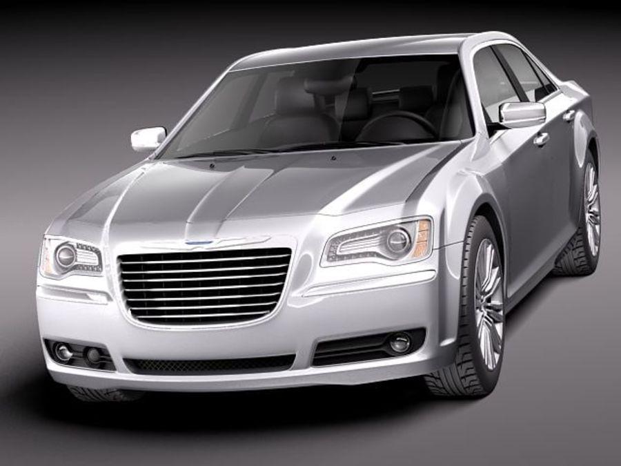 克莱斯勒300c 2012 royalty-free 3d model - Preview no. 2