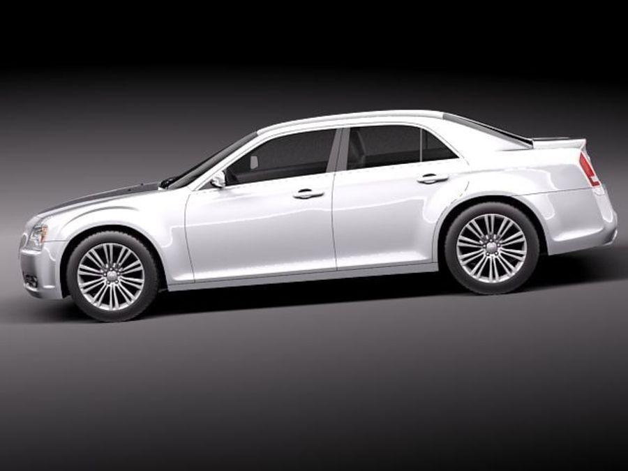 克莱斯勒300c 2012 royalty-free 3d model - Preview no. 7