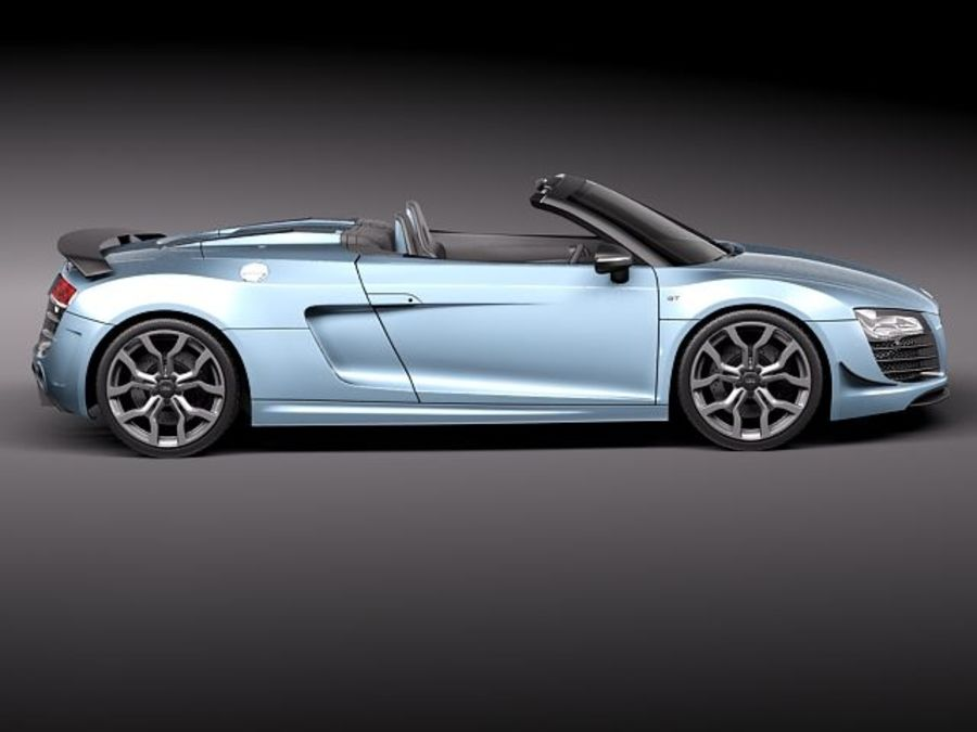 Audi R8 GT Spyder 2011 royalty-free 3d model - Preview no. 7