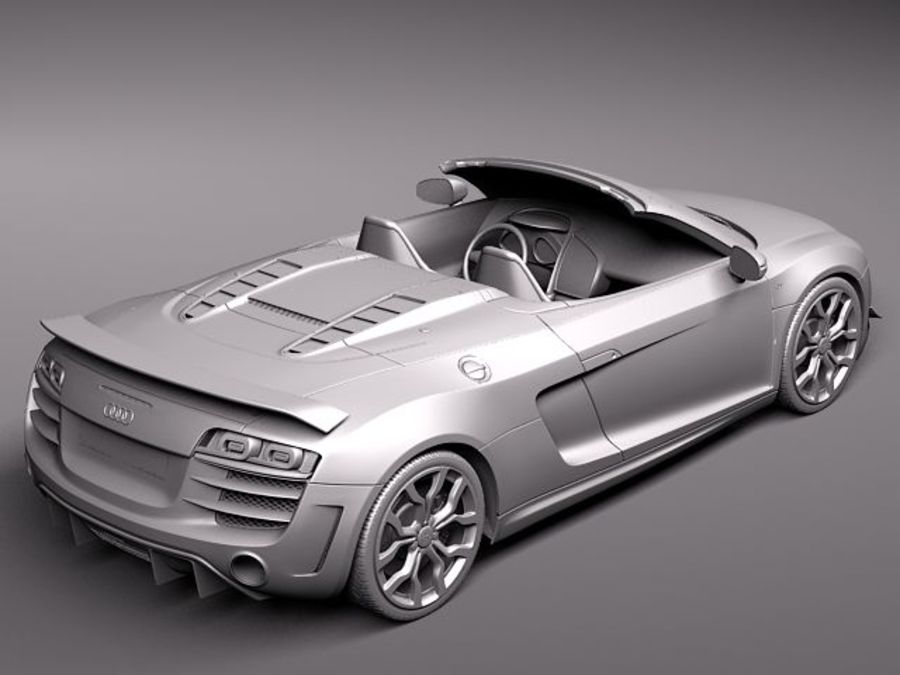 Audi R8 GT Spyder 2011 royalty-free 3d model - Preview no. 10