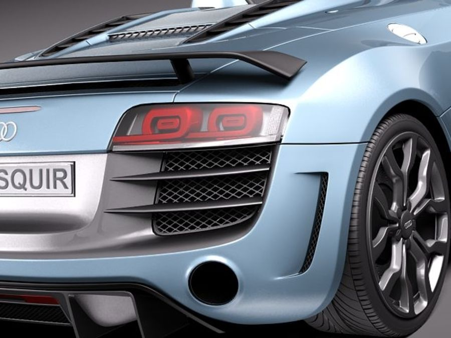 Audi R8 GT Spyder 2011 royalty-free 3d model - Preview no. 6