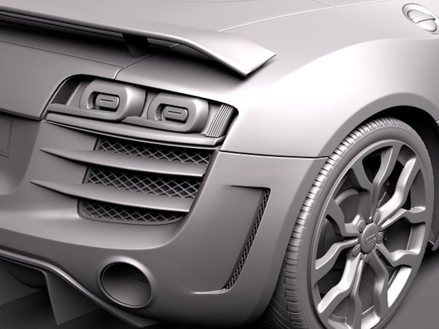 Audi R8 GT Spyder 2011 royalty-free 3d model - Preview no. 11