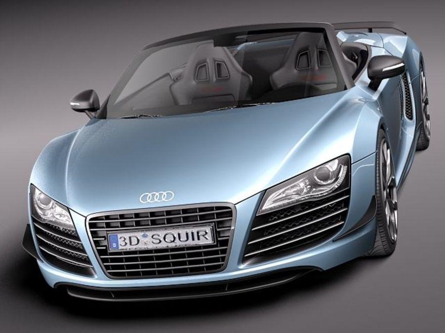 Audi R8 GT Spyder 2011 royalty-free 3d model - Preview no. 2