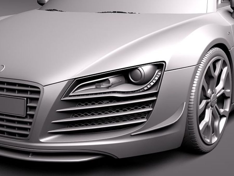 Audi R8 GT Spyder 2011 royalty-free 3d model - Preview no. 12