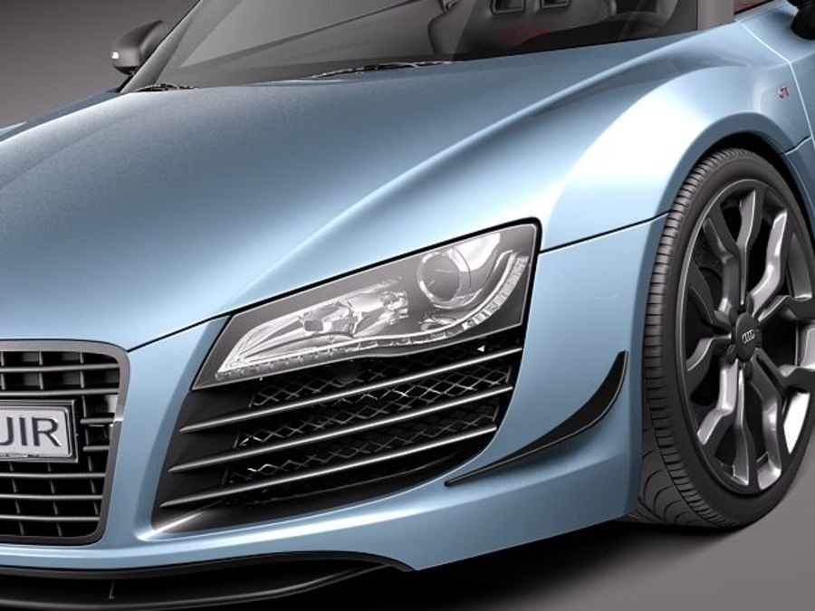Audi R8 GT Spyder 2011 royalty-free 3d model - Preview no. 3
