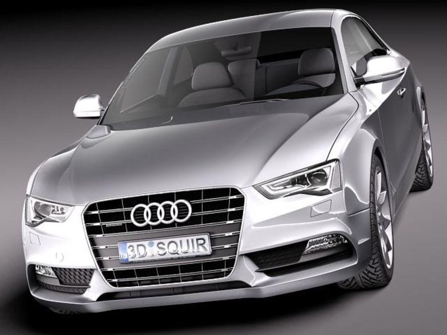 Audi A5 купе 2012 royalty-free 3d model - Preview no. 2