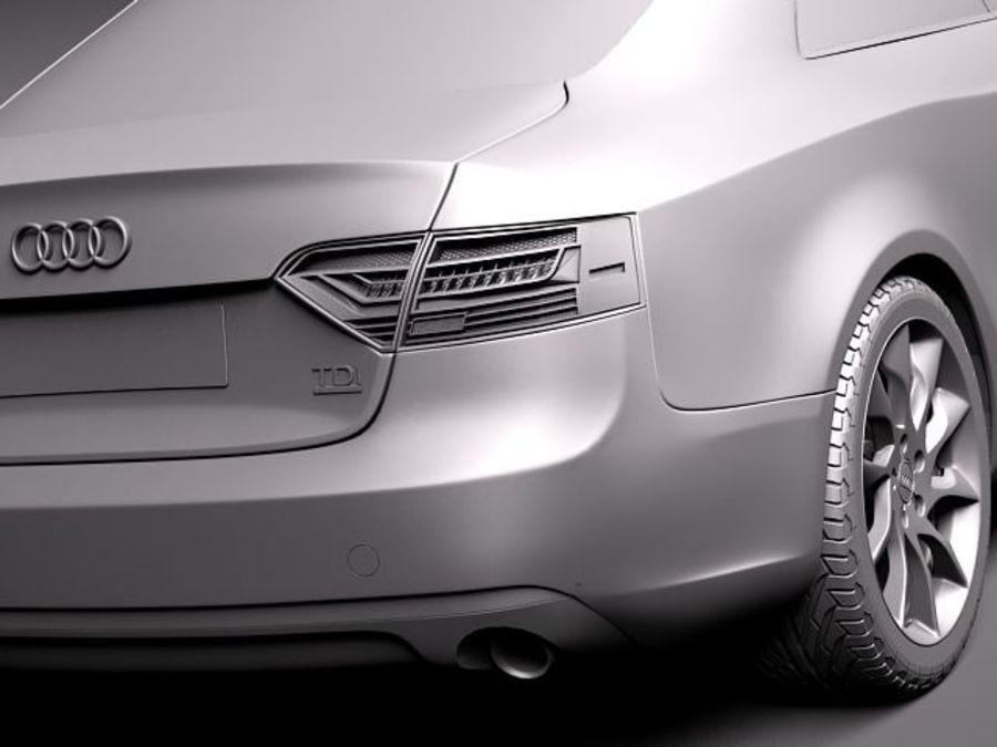 Audi A5 купе 2012 royalty-free 3d model - Preview no. 11