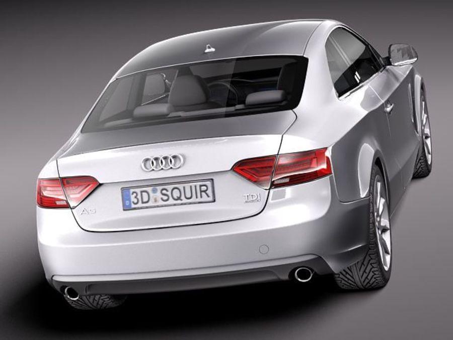 Audi A5 купе 2012 royalty-free 3d model - Preview no. 6