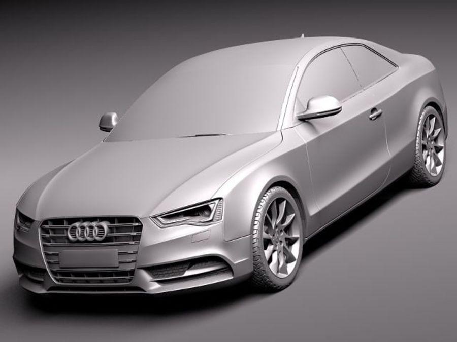 Audi A5 купе 2012 royalty-free 3d model - Preview no. 9