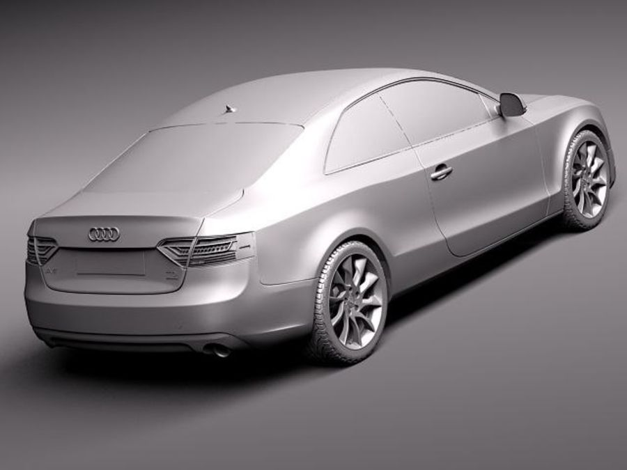 Audi A5 купе 2012 royalty-free 3d model - Preview no. 12