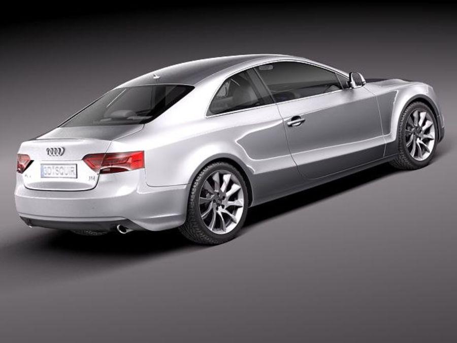 Audi A5 купе 2012 royalty-free 3d model - Preview no. 5