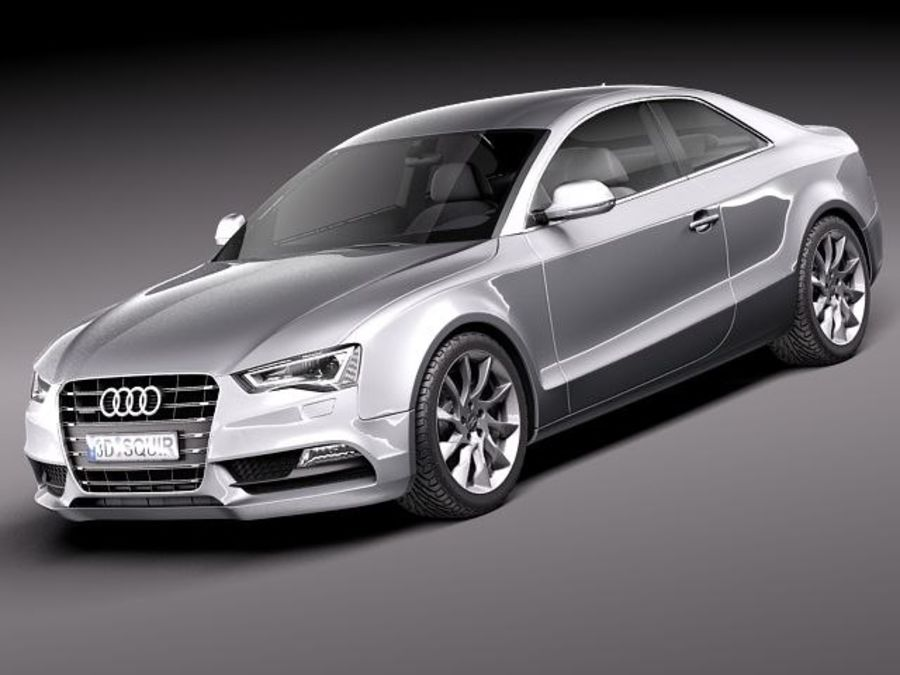 Audi A5 купе 2012 royalty-free 3d model - Preview no. 1