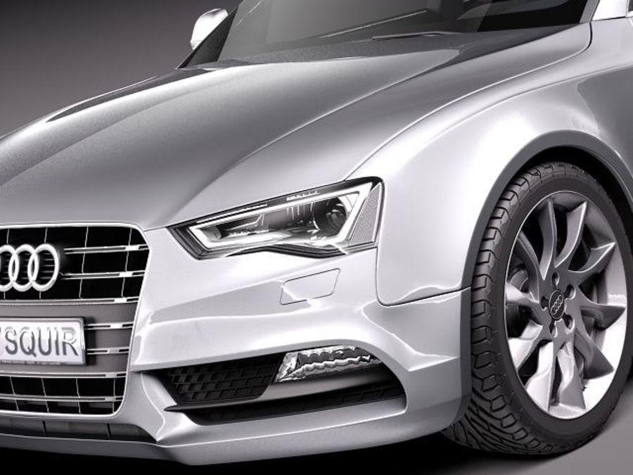 Audi A5 купе 2012 royalty-free 3d model - Preview no. 3