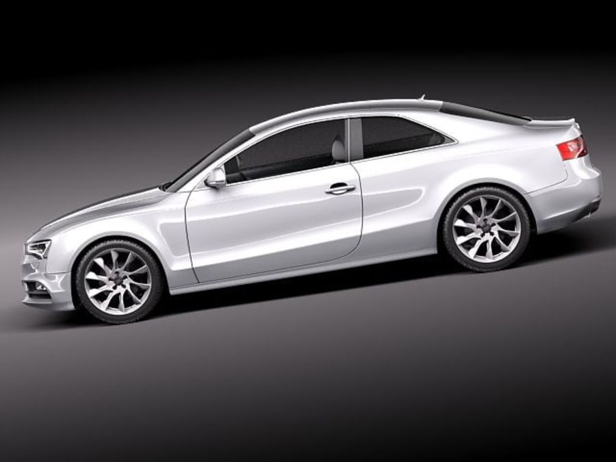 Audi A5 купе 2012 royalty-free 3d model - Preview no. 7
