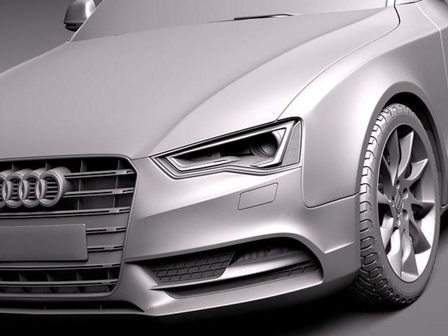 Audi A5 купе 2012 royalty-free 3d model - Preview no. 10