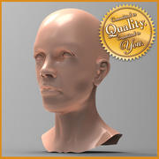 Tête de femme 3d model