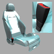 Klamra pasa bezpieczeństwa 3d model