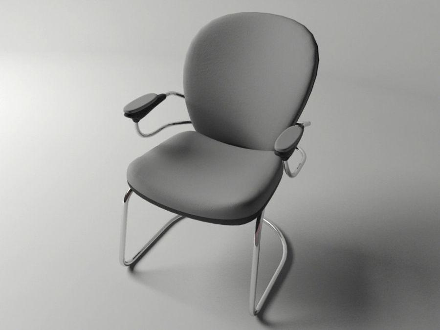 Chaise de bureau royalty-free 3d model - Preview no. 7