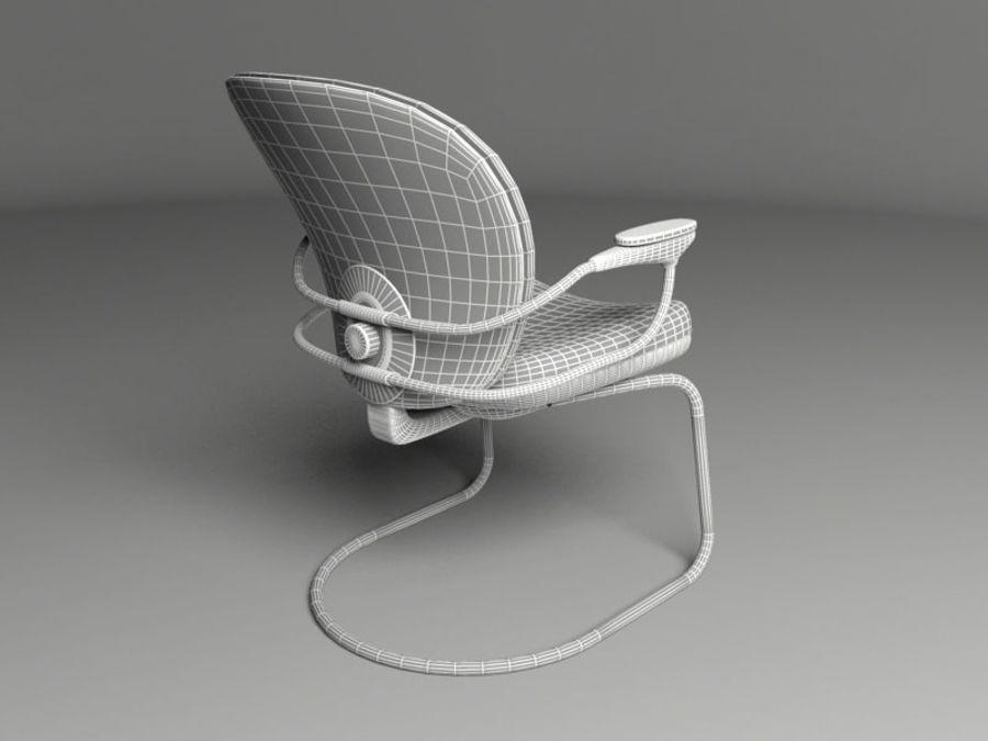 Chaise de bureau royalty-free 3d model - Preview no. 6