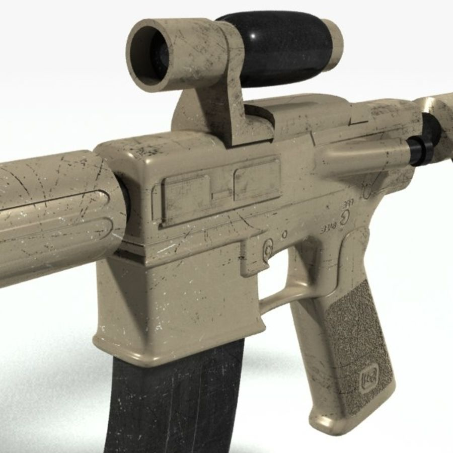 ar15 royalty-free 3d model - Preview no. 4