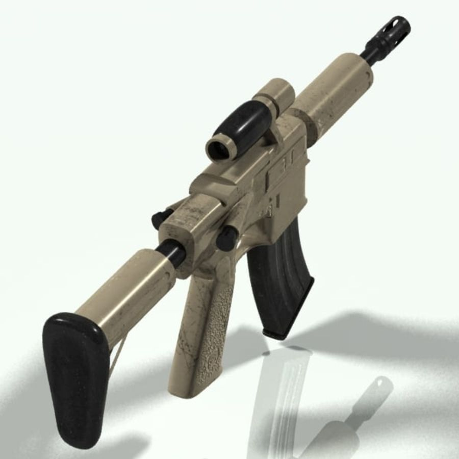 ar15 royalty-free 3d model - Preview no. 3