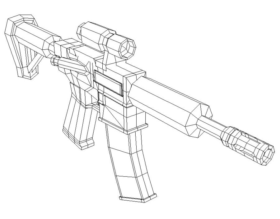 ar15 royalty-free 3d model - Preview no. 6