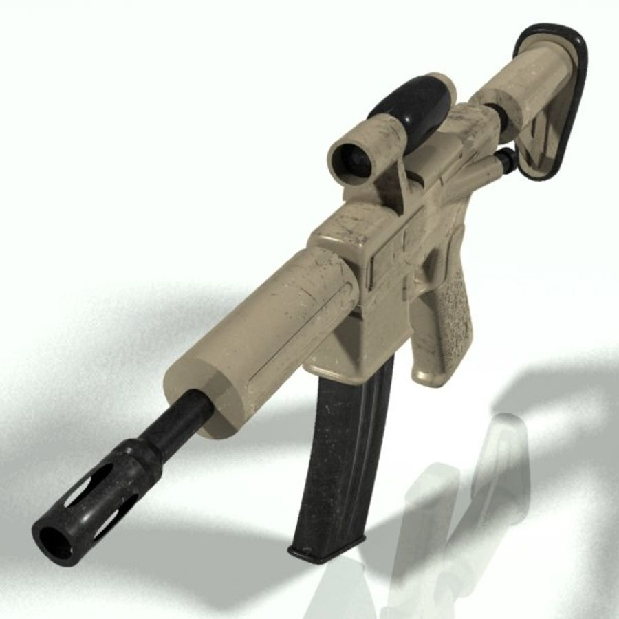 ar15 royalty-free 3d model - Preview no. 2